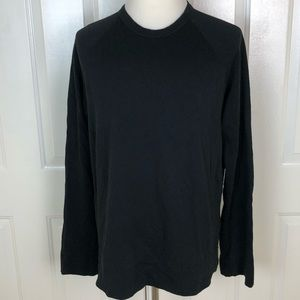 Standard JAMES PERSE Men's Solid Black Long Sleeve